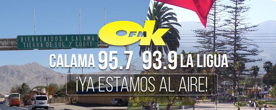 ¡Llegamos! 93.9 La Ligua / 95.7 Calama