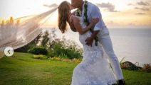 La Roca se casó