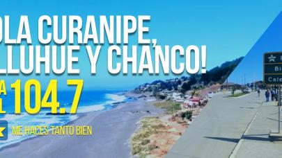 104.7 NUEVA SEÑAL OKEY: ¡HOLA CURANIPE, PELLUHUE Y CHANCO!